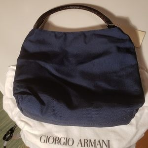 Giorgio Armani - Navy Blue Nylon Handbag - NWT!